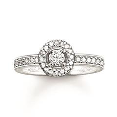 Halo Ring 925er Silber