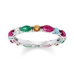 Farbenfroher Ring aus Sterlingsilber