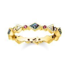 Ring Farbige Steine aus vergoldetem 925er Silber