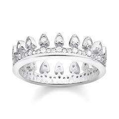 Ring Krone aus Sterlingsilber mit Zirkonia