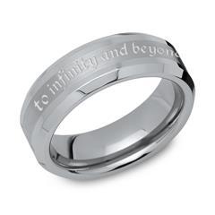 Wolfram Ring teilpoliert Lasergravur