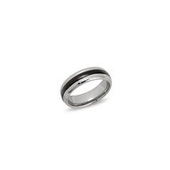 Ring Wolfram Ionenbeschichtet Tungstenring