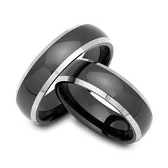 High Quality Tungsten Wedding Rings Black