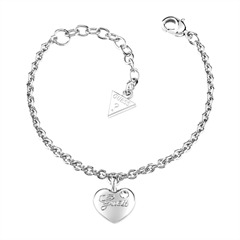 Silberfarbenes Guess-Armband Hearts Of Roses UBB21527-S
