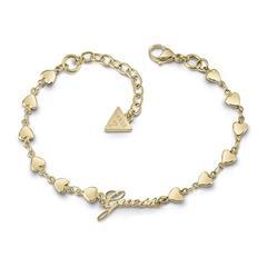 Armband Herzen für Damen aus Edelstahl, vergoldet