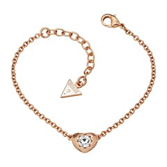 Guess-Armband Crystals Of Love Herz rosé UBB51415