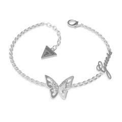 Armband Schmetterling für Damen aus Edelstahl