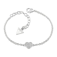 Armband Guess Heartshelter Kristall silber UBB71518