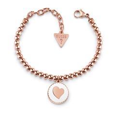 Rosévergoldetes Edelstahl Armband für Damen mit Herz