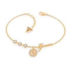 Vergoldetes Edelstahl Armband für Damen