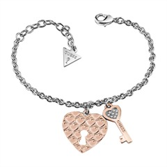 Armband Key to your heart rosé