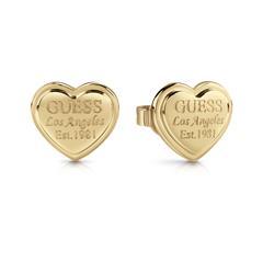 Damen Ohrstecker Herzen aus vergoldetem Edelstahl