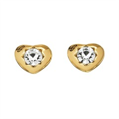 Herzförmige Ohrstecker gold