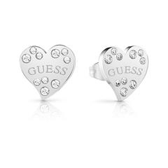 Herz Ohrstecker aus Edelstahl mit Swarovski Kristallen