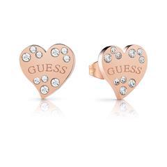 Damen Ohrstecker Herzen aus Edelstahl rosévergoldet