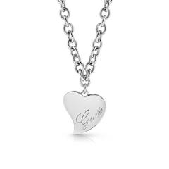 Halskette Herz für Damen aus Edelstahl, gravierbar