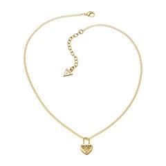 Goldene Halskette Herz Schloss