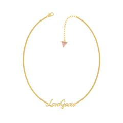 Halskette Love Guess für Damen aus Edelstahl, gold
