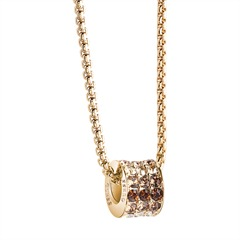 Kette Rounds gold Swarovski-Kristall