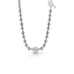 Kette für Damen aus Edelstahl mit Swarovski Kristallen