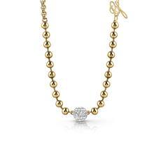 Damen Kette Edelstahl vergoldet Swarovski Kristalle