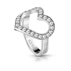 Ring Shine on me aus Edelstahl mit Swarovski Kristallen