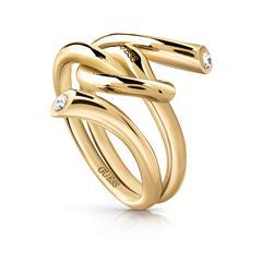 Damenring Wrapped Knot aus Edelstahl, vergoldet