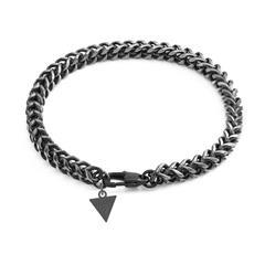 Armband für Herren aus teilgeschwärztem Edelstahl