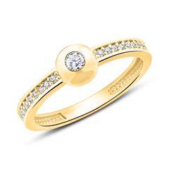 Ring aus 375er Gold mit Zirkonia