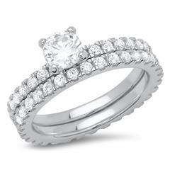Premium Verlobungsring-Set 925er Silber