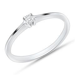 Verlobungsring 585 Weißgold mit Diamant 0,05ct.
