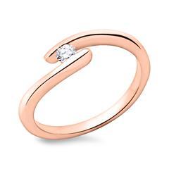 Verlobungsring 14K Gold mit Diamant 0,1 ct.