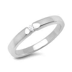 585 Weißgold Verlobungsring mit Diamant 0,05 ct.