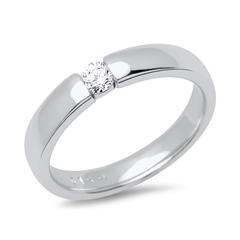 585er Weißgold Verlobungsring mit Diamant 0,1ct.