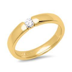 Verlobungsring 14K Gelbgold mit Diamant 0,1 ct.
