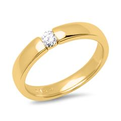 18K Gelbgold Verlobungsring Diamantbesatz 0,1ct.