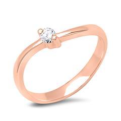 Verlobungsring 585er Rotgold mit Diamant 0,05ct.