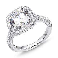 925er Silber Verlobungsring Sterling Zirkonia