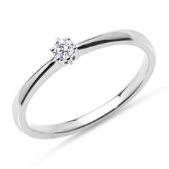 Ring aus 585er Weißgold mit lab-grown Diamant