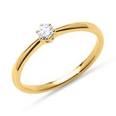 Diamant Verlobungsring 0,15 ct 585er Gelbgold