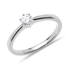 585er Weißgold Verlobungsring Diamant 0,25 ct
