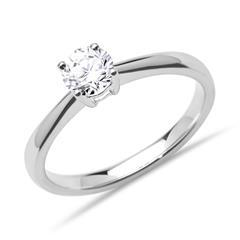 585er Weißgold Verlobungsring Diamant 0,50 ct