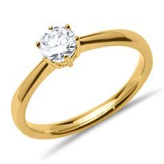 585er Gelbgold Verlobungsring Diamant 0,50 ct.