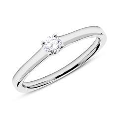 Interessant: Verlobungsring 585er Weißgold Diamant 0