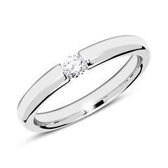 18K Weißgold Ring mit Diamant 0,10 ct.