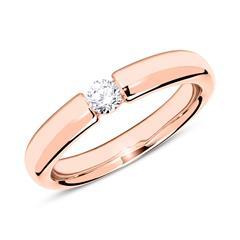 18K Roségold Ring mit Diamant 0,15 ct.