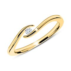 14K Goldring mit Diamant 0,05 ct.