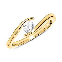 Ring aus 585er Gold mit Diamant 0,25 ct.