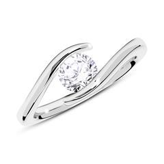 585er Weißgold Verlobungsring mit Diamant 0,50 ct.