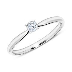 585er Weißgold Verlobungsring mit Diamant 0,15 ct.